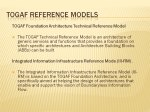 Slide 22 : TOGAF Reference Models