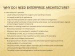 Slide 7 : Why do I need Enterprise Architecture