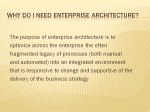 Slide 8 : Why do I need Enterprise Architecture