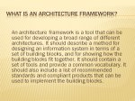 Slide 9 : What is an Architecture Framework