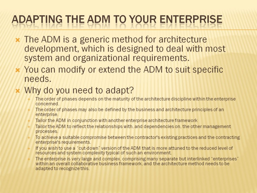Slide 7 - Adapting ADM