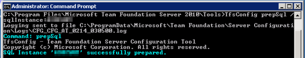 3 Prepare SQL Server for TFS