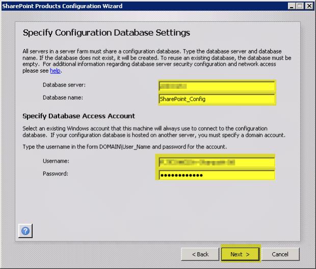 04 Database Settings