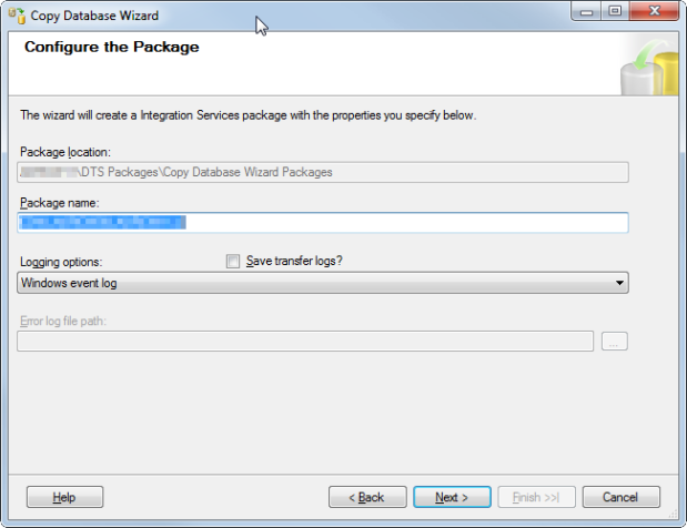 18 Migration Package Settings