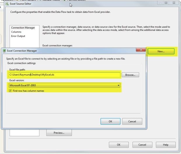 05 Configure Excel Connection